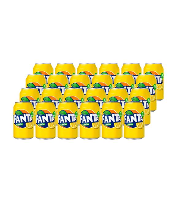 pack 24 latas fanta limon