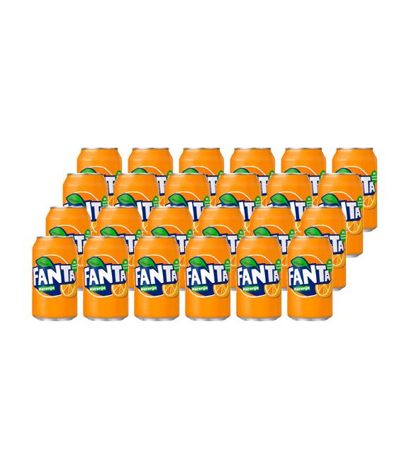 pack 24 latas fanta naranja
